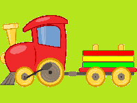 Een oude trein