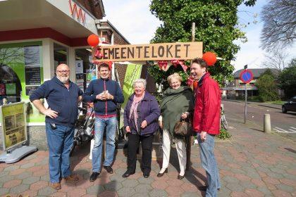 v.l.n.r. Geert van Klinken, Jan Alberts, Pé Hillebrink, ANBO-voorzitter Tonny de Gier en Reinoud Keesmaat.